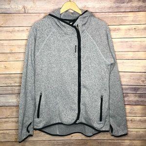 Reebok Gray Hooded Sweater #E16